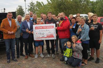 """Dicke Überraschung - Gewinner bei """"Scheine für Vereine"""""""