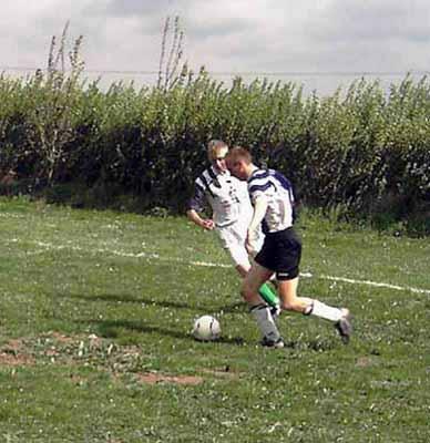 Spielszene SV Teterow 90 - Eintracht Groß Wokern