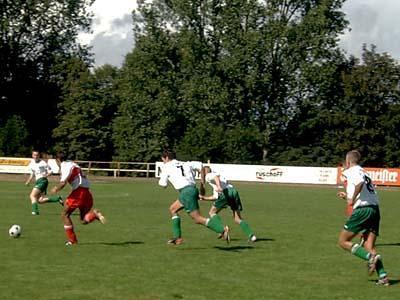 Während des Pokalspiels gegen Malchin (Endstand: 5:3)